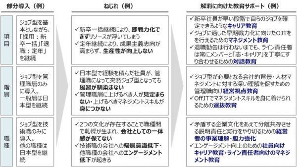 図3:一部導入に伴うねじれの例と、その解消に向けた教育サポート例